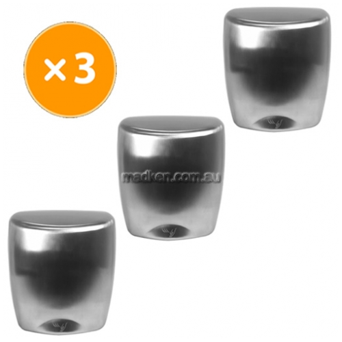 View Set of 3 Stainless Hand Dryers details.