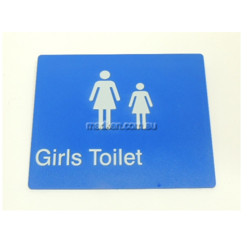 View GIRLS Girls Toilet Sign with Braille details.