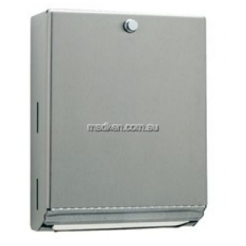 View B2620 Paper Towel Dispenser with Knob Latch details.