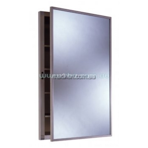 View B398 Recessed Medicine Cabinet with Adjustable Shelves details.