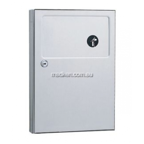 View B254 Sanitary Napkin Disposal Unit details.