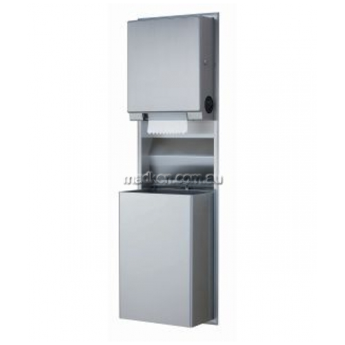 View B3961 Auto Roll Towel Dispenser and Waste Bin 45.5L details.