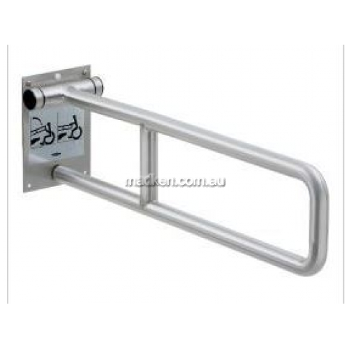 View Stainless Steel Swing-Up Grab Bar details.