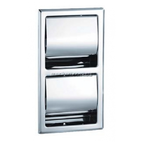 View 5127 Double Toilet Roll Holder, Recessed details.