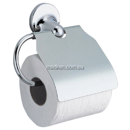View Q0081H Single Toilet Roll Holder with Hood details.