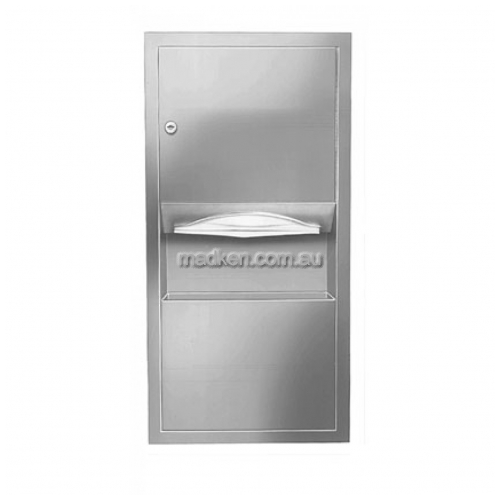 2291 Combo Unit, Towel Dispenser and Waste Bin 8L