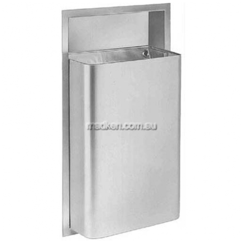 View 344 Waste Receptacle 45L, Surface Mounted details.