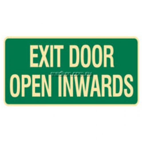 View Brady 832747 Exit Door Open Inwards Sign details.