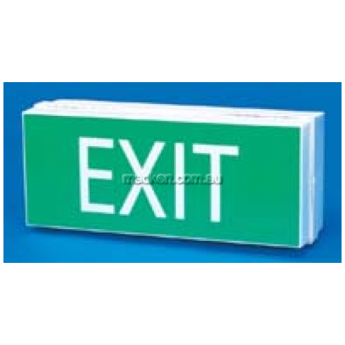 View Brady 853677 Economy Exit Light Sign details.