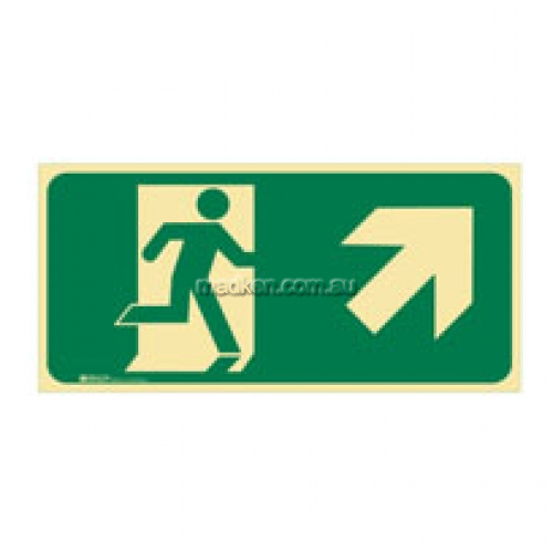 View Brady 853724 Running Man Exit Up Right Arrow Sign details.