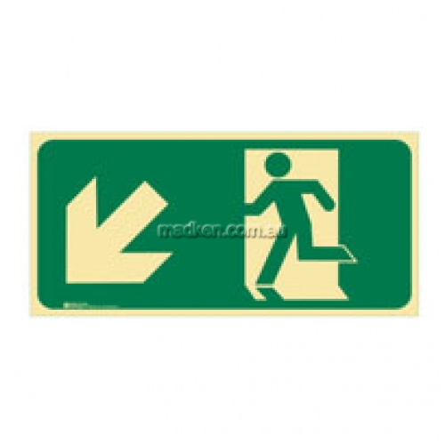View Brady 856838 Running Man Arrow Bottom Left Exit Floor Sign details.