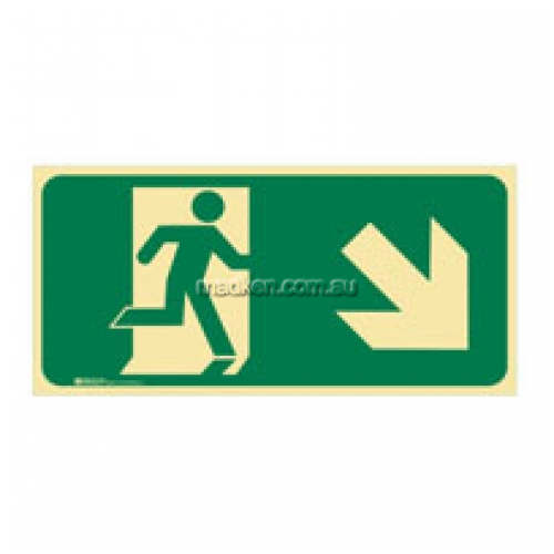 View Brady 859116 Running Man Arrow Bottom Right Exit Floor Sign details.