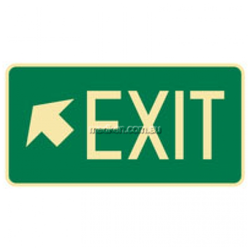 View Brady B841406 Left Up Arrow Exit Floor Sign details.