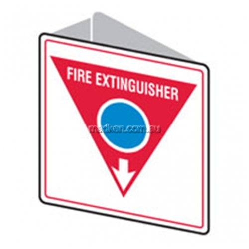 View Bradley 835733 Double Sided Fire Extinguisher Arrow Down Sign details.