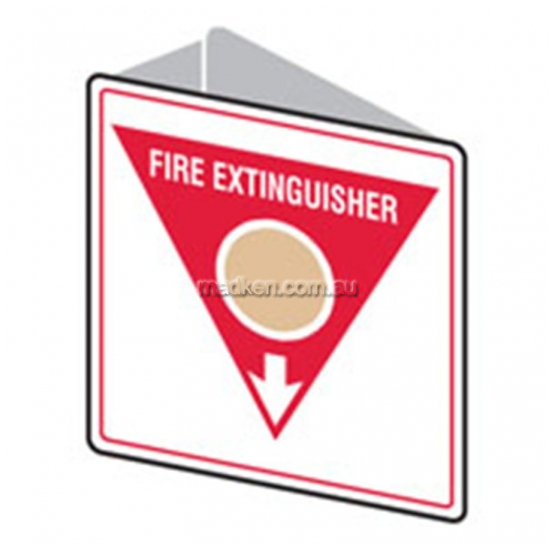 View Brady 835735 Double Sided Fire Extinguisher Arrow Down Sign details.