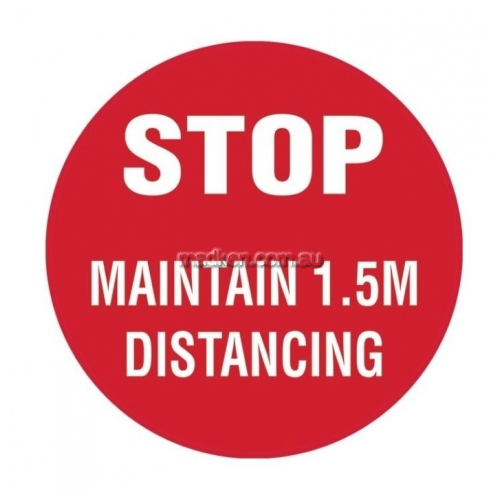 View Stop - Maintain 1.5m Distancing details.