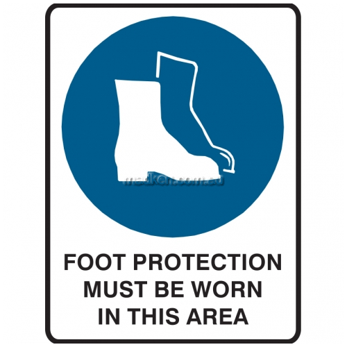 View Foot Protection Must Be Worn In This Area Sign details.