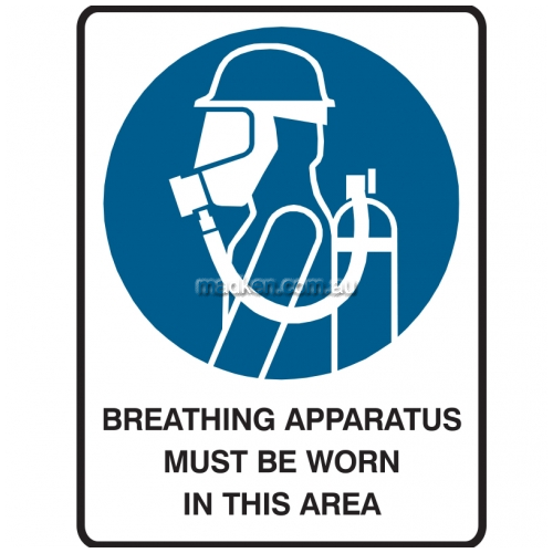 View Breathing Apparatus Must Be Worn In This Area details.