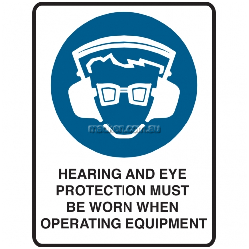 View Hearing and Eye Protection Must Be Worn When Operating Equipment details.