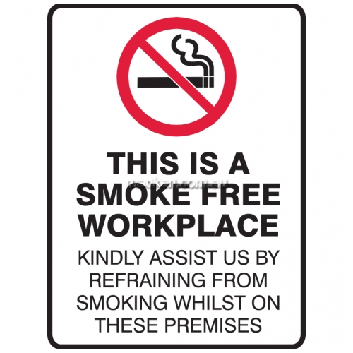 View Brady 840181	Smoke Free Workplace Prohibition Sign details.