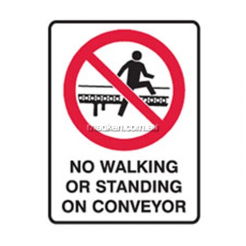 View Brady 840229 No Walking Or Standing In Conveyer details.