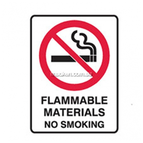 View Brady 842148	Flammable Materials Prohibition details.