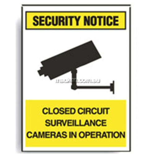 View Brady 843078 Surveillance Cameras in Operation Sign details.