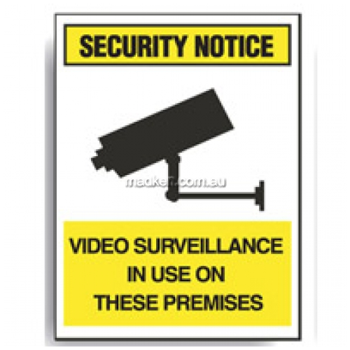 View Brady 843746	Video Surveillance used on Premises Sign details.