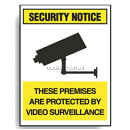 View Brady 844010 Premises Protected By Video Surveillance details.