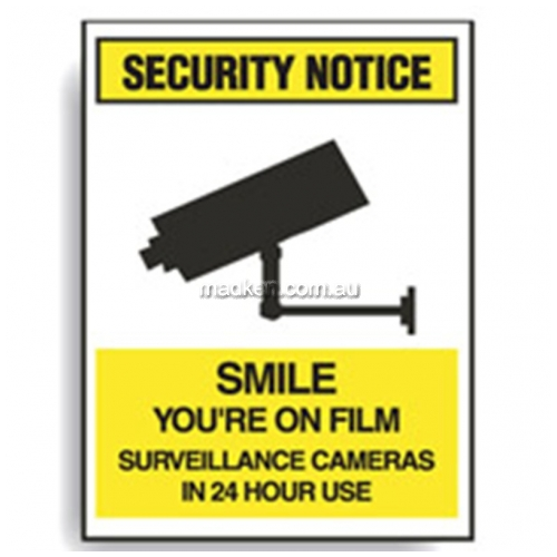 View Smile Youre On Film Sign details.