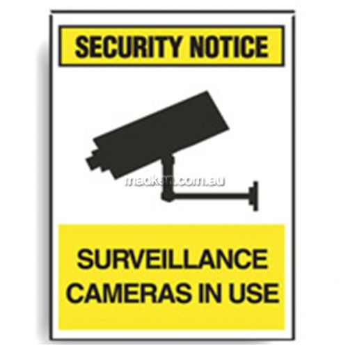 View Surveillance Cameras In Use Sign details.