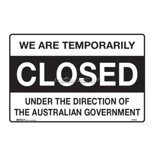 View We Are Temporarily Closed Under The Direction Of The Australian Government details.