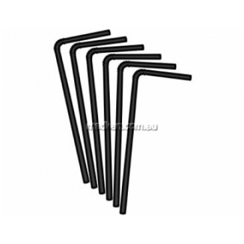 View PEF210BK Flexi Straws Plastic 210mm L details.