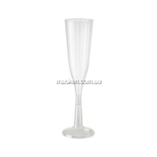 Champagne Flute Plastic Clear