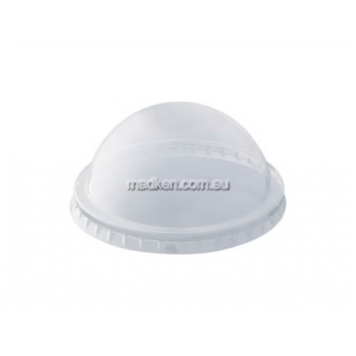 Dome No Hole Plastic Clear Lid