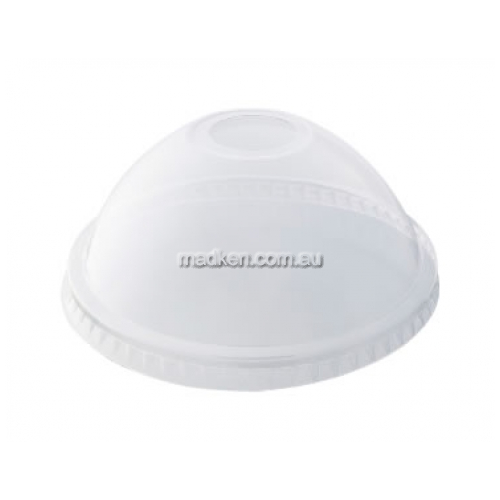 Dome Straw Hole Plastic Clear Lid