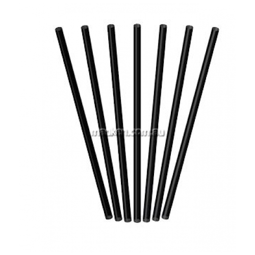 View Regular Plastic Straws Black details.