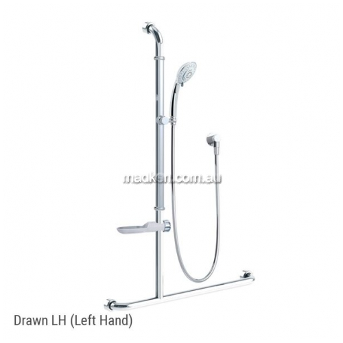 View GB071 Shower Kit with Breeze Head, Rail and Soap Dish details.