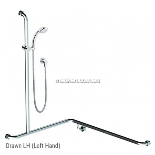View HS01805 Shower and Rail Kit 5 Left Hand details.