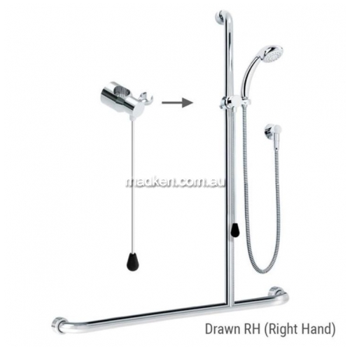 View ID01821 Rail Shower Kit with Rod Right Hand details.