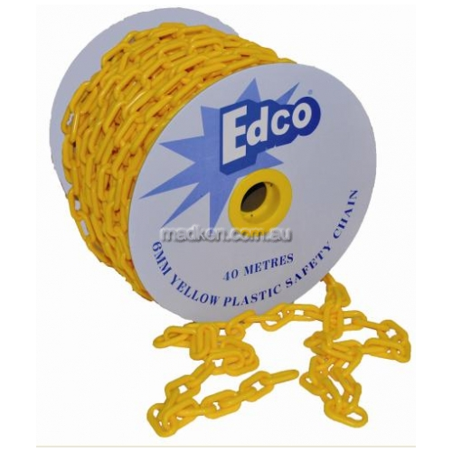 View 40 Metre Yellow Plastic Safety Chain details.