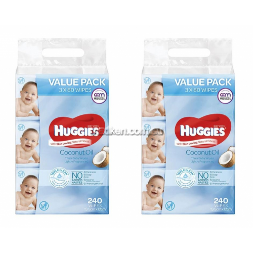 View Coconut Oil Baby Wipes Value Pack details.