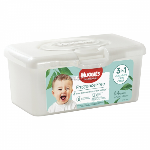 View Thick Baby Wipes Refillable Tub Fragrance Free  details.