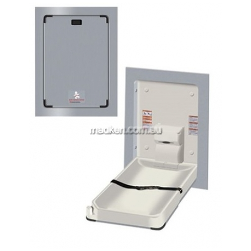 View 9017 Baby Change Table Vertical Clad Stainless Steel details.