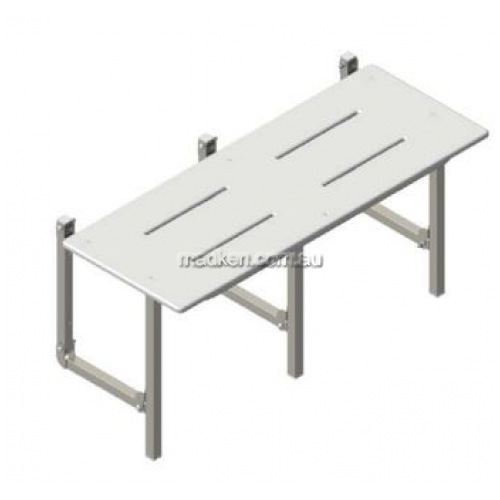 View SS960BR Folding Shower Seat Slotted details.
