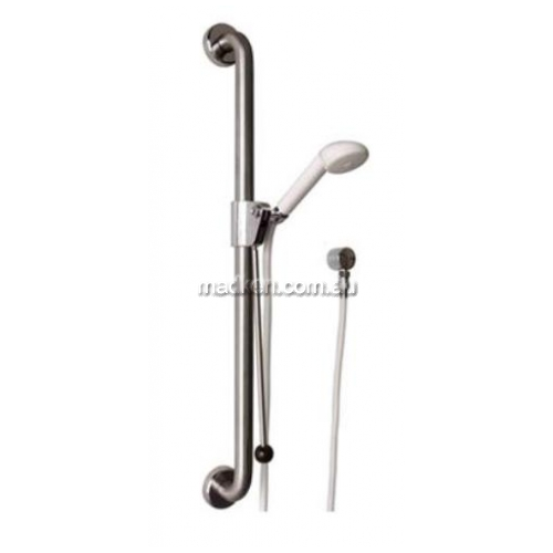 View GCSS1100 Shower Grab Rail with Chrome Shower Kit and Slider details.
