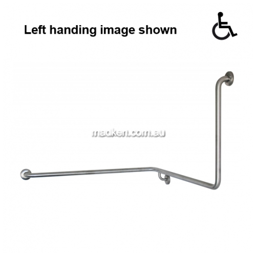 View GNS-1 Toilet Grab Rail 90 Degree 1110 x 1040 x 600mm details.