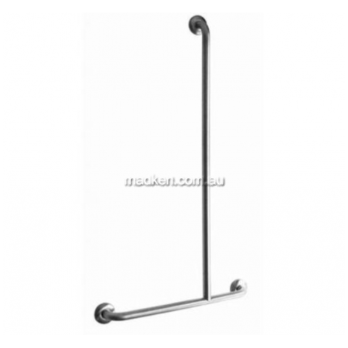 View GIT-7 Shower Grab Rail Inverted T Bar 700 x 1100mm details.