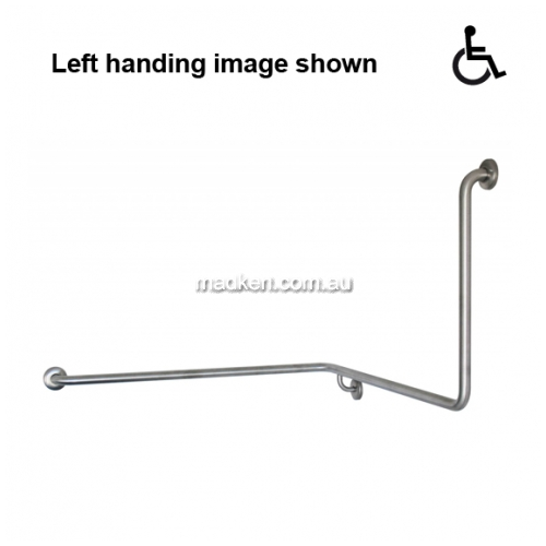View GNN Toilet Grab Rail 90 Degree 1110 x 1040 x 600mm details.