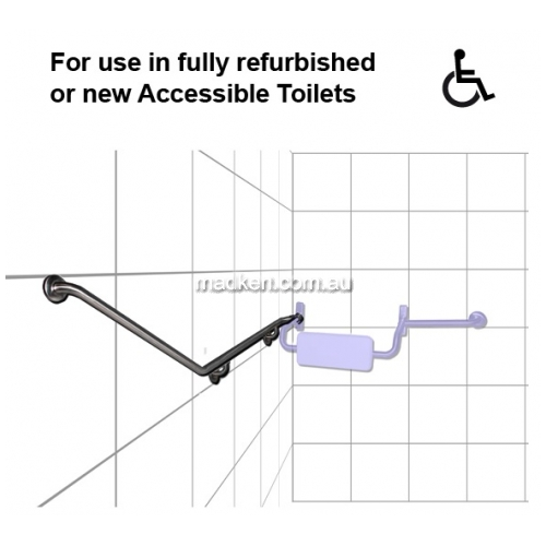 View GRE08 Toilet Grab Rail 40 Degree 700 x 880mm details.